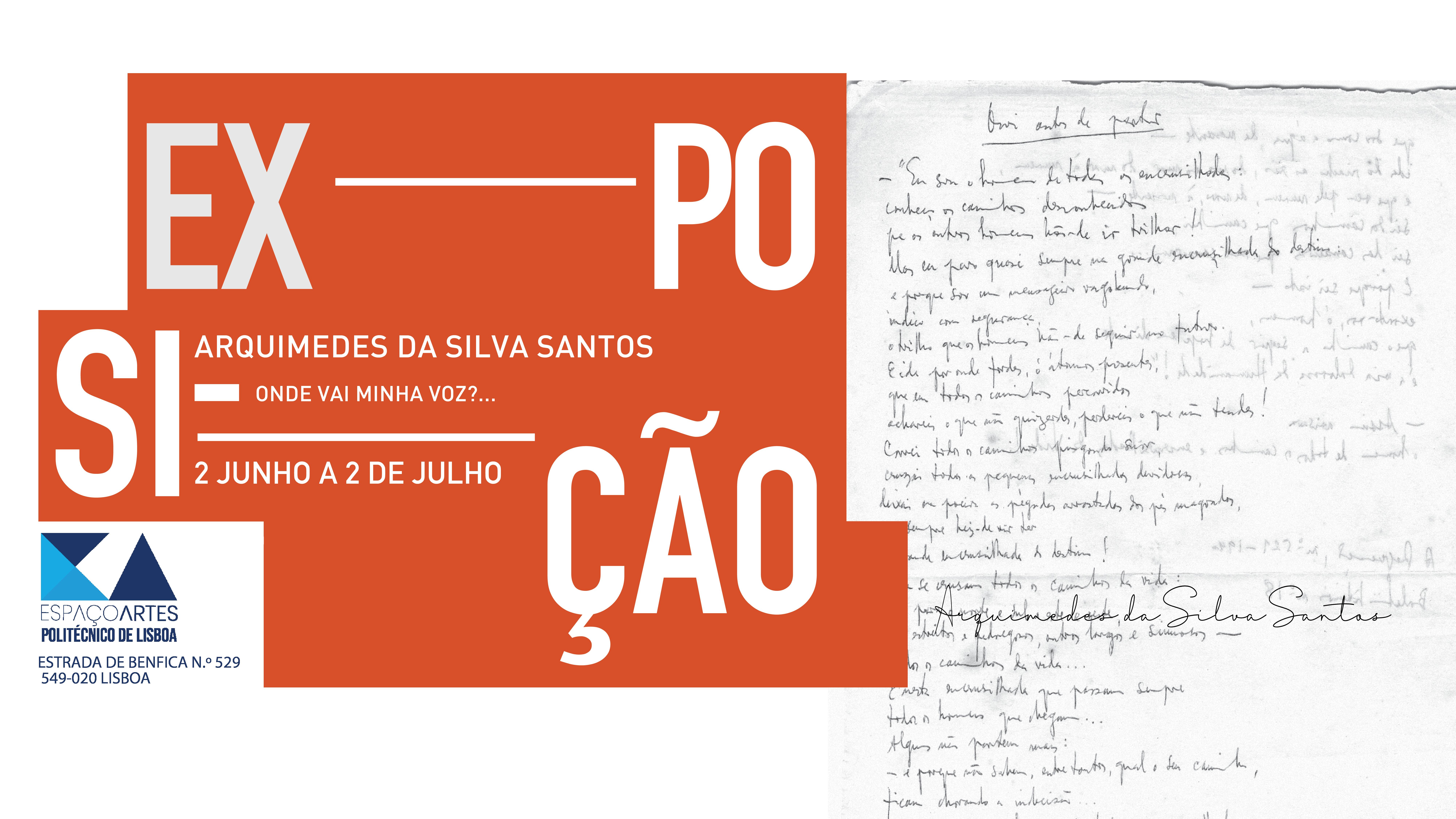 """Exposição """"Arquimedes da Silva Santos: onde vai minha voz?…"""""""